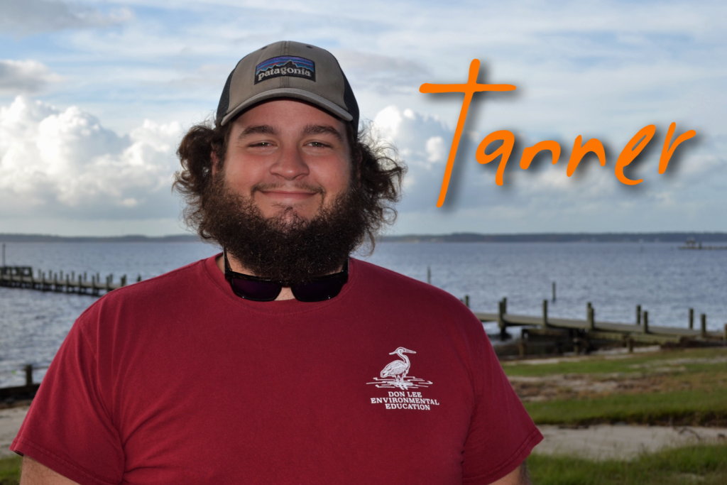 Hi, my name is Tanner Lilly and this is my 11th season working at camp! My favorite camp animal is Arthur the Eastern King Snake! My favorite sea creature is an Angler Fish because who doesn't like a fish with a light bulb attached to it!