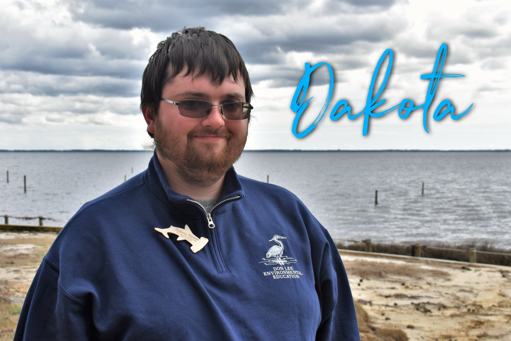 Hi! My name is Dakota. I am from Pennsylvania. This is my first season at Don Lee. I am really excited to be here. I used to work with sharks before going into the camping field. My favorite Disney Character is Aladdin.
