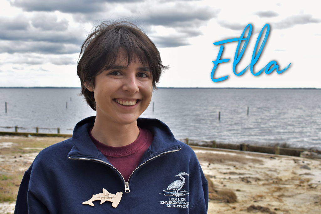 Hi! My name is Ella. I am from upstate New York. I have a degree in biology. This is my first season at Camp Don Lee, and I am so excited to be a part of this team.  I love reading, learning about new things, and exploring. My Disney character is Tick-tock the crocodile from Peter Pan. I like him because he is a underrated hero.
