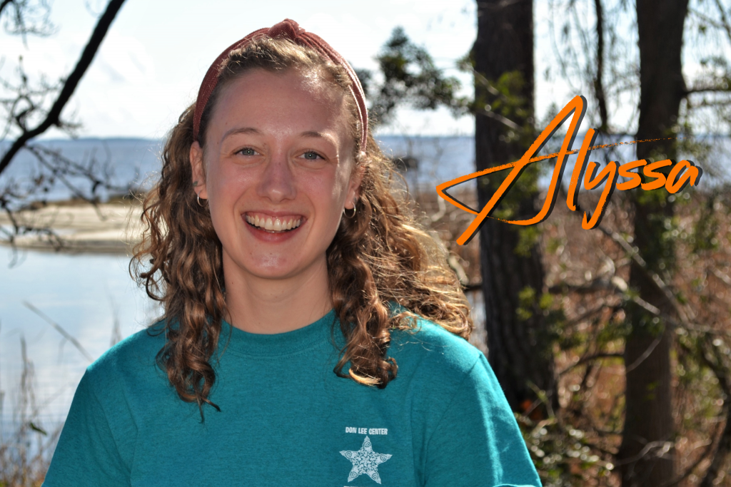 Is from Pennsylvania, but she's also lived in Washington State, California, and even the Turks and Caicos Islands for a little bit! Alyssa is excited to be here in North Carolina for her first season at Camp Don Lee. She loves all creatures on Earth, but has a special spot for ocean critters.